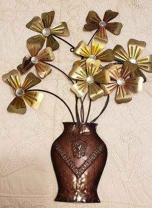 Flowers in vase metal wall art for Sale in St. Cloud, FL