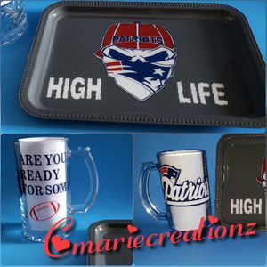 NFL tray and wineglass set for Sale in Roanoke, VA