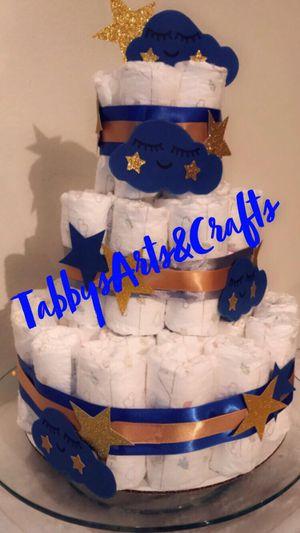 Twinkle Twinkle Little Star Diaper Cake for Sale in Richardson, TX