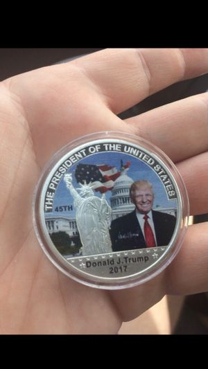 Silver Coin American 45th President Donald Trump Coin US White House The Statue of Liberty Silver Metal Coin Collection for Sale in Riviera Beach, FL