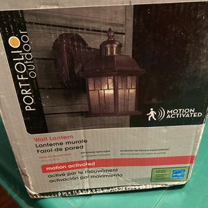 Wall Lantern Motion Activated Outdoor for Sale in Buffalo, NY