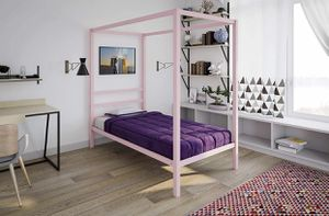 Pink Metal Canopy Bed for Sale in Martinsburg, WV