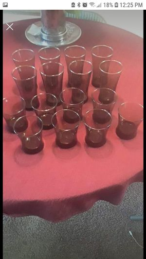 Complete set of Drinking Glasses, 12 oz & 16oz for Sale in Fairview, OR
