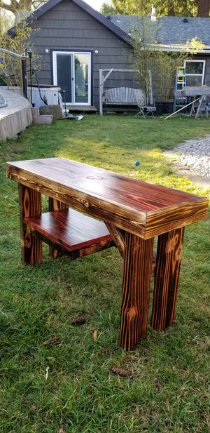Beautiful small bench with burn and stain for Sale in Portland, OR