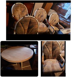 Kitchen table and 4 cushioned swivel chairs for Sale in Hammonton, NJ