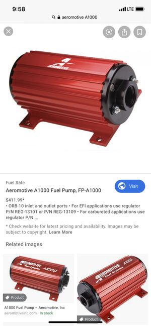 Aeromotive A1000 fuel pump for Sale in Lewisville, TX