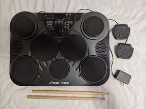 Pyle PTED01 Digital Drum Kit w/ Pedals, Drum Sticks, and Power Adapter for Sale in Delaware, OH