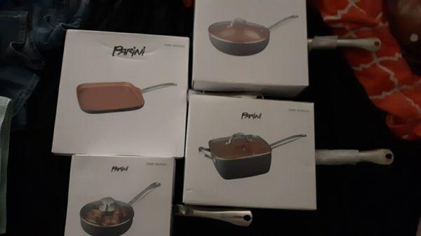 Parini Copper pan set