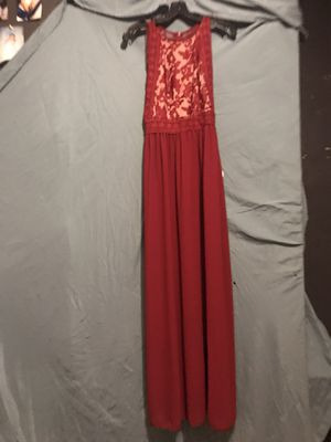 Beautiful Red MBM size 10 Prom dress for Sale in Rossville, GA