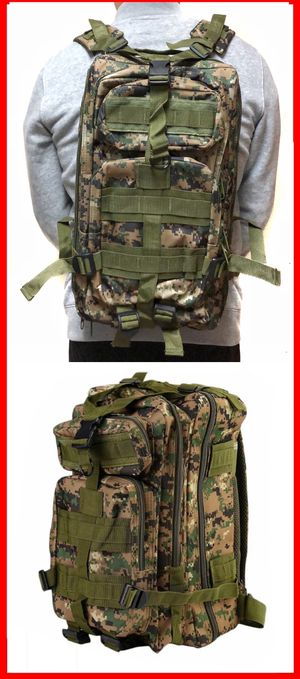 NEW! Camouflage Tactical Military style Backpack travel bag work bag hiking biking camping hydration bag school bag gym bag molle for Sale in Carson, CA