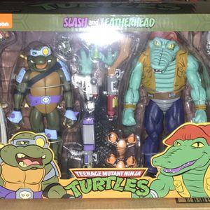 Teenage Mutant Ninja Turtles Slash And Leather head Tmnt Neca for Sale in Santa Ana, CA