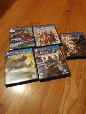 Vendo 5 juegos ps4 for Sale in Manassas, VA