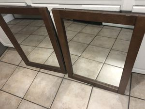 Bathroom Mirrors 2 Brown for Sale in Brandon, FL