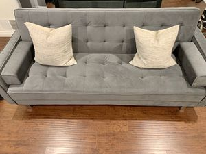 Modern Suede Convertible Sofa for Sale in Los Angeles, CA