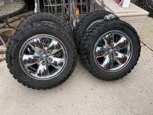 Dodge chrome rims and like new MTs for Sale in Auburn, WA