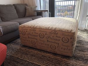 Oversized Ottoman / Coffee Table for Sale in Nashville, TN
