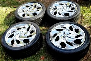 4 17 in 4x108 wheels rims and tires for Sale in Germantown, MD