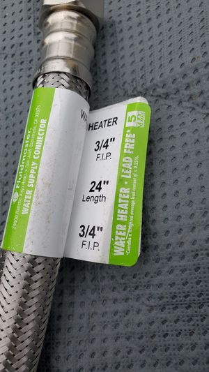 Water heater stainless steel line. 24inches long for Sale in San Jose, CA