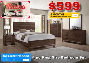 4 pc king size bedroom set for Sale in Tulare, CA