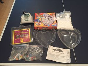Plaster hand print kit and stepping stone kit. Extra molds and supplies. All for 5 for Sale in Mission Viejo, CA