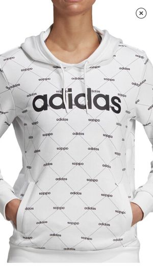 Adidas new white & black hoodie women's large for Sale in Alta Loma, CA
