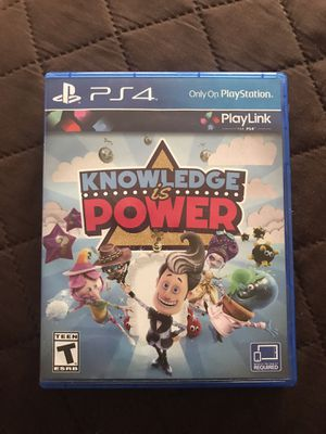 GOOD CONDITION, COMPLETE, Knowledge Is Power, PS4, Playstation 4 for Sale in SEATTLE, WA