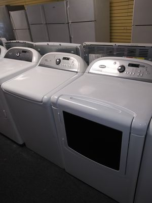 👍🔥🔥Whirlpool electric top load set washer and dryer in exellent condition for Sale in Laurel, MD