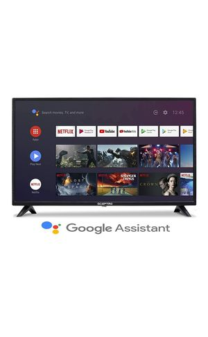 Sceptre Android TV A322BV-SRC 32-inch Smart LED HD TV Google Assistant Chromecast Bluetooth Remote, Machine Black 2020 for Sale in Houston, TX