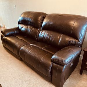 Leather Couch (Electric Recliner) for Sale in Andover, KS