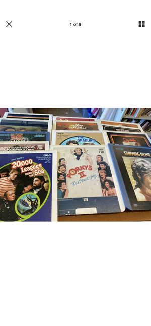 LOT of Laser Discs UNKNOWN Condition for Sale in Castro Valley, CA