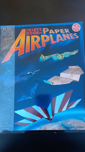 Cool paper airplane making book for Sale in Danville, CA