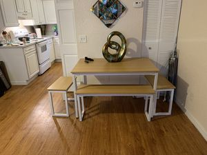 Dinning room table & metal bunk bed for Sale in Kenneth City, FL