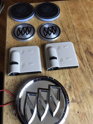 Buick badge light, Buick door light, Buick cup holder light, Buick center rim emblems for Sale in Country Club Hills, IL