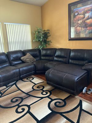 Dark Brown Sectional Couch - used for Sale in Modesto, CA