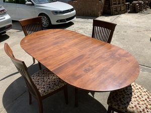 Solid Maple Wood Kitchen Table and 4 Chairs for Sale in Aliquippa, PA