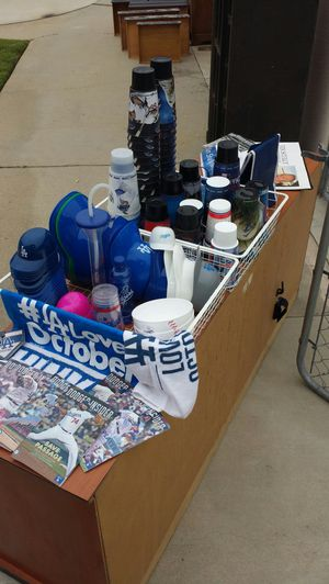 Dodger Swag - price per piece - cups towels helmets bags for Sale in Los Angeles, CA