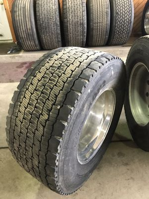 455/55 R22.5 Super single tires with or without rims for Sale in Third Lake, IL
