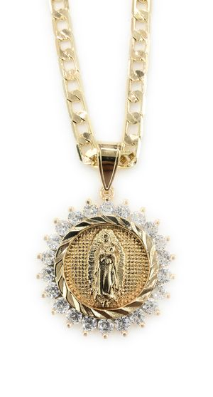 Gold Plated Virgen de Guadalupe Necklace for Sale in Glendale Heights, IL