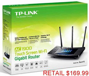 TP-LINK AC1900 Touchscreen Wireless Dual Band Gigabit Router for Sale in Lanham, MD