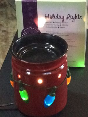 Scentsy Holiday lights full size wax warmer, box included. Never used, $25 for Sale in Columbus, OH