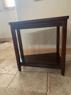 2 Dark Wood End Tables for Sale in Issaquah, WA