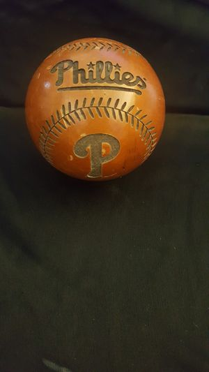 Phillies wooden baseball for Sale in Port St. Lucie, FL
