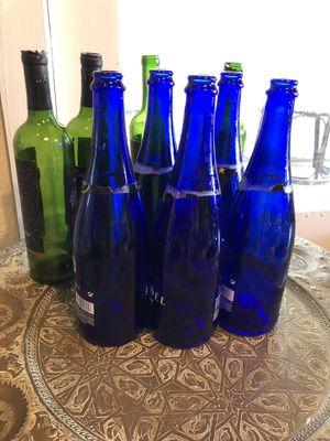 Cobalt blue bottles. & Olive green for Upcycling Art for Sale in Longwood, FL
