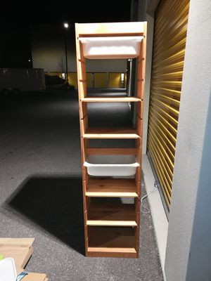 Wood Storage tower or bookcase for Sale in Orlando, FL