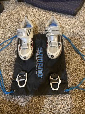 Cycling Shoes and Pedals Combo for Sale in Cumming, GA