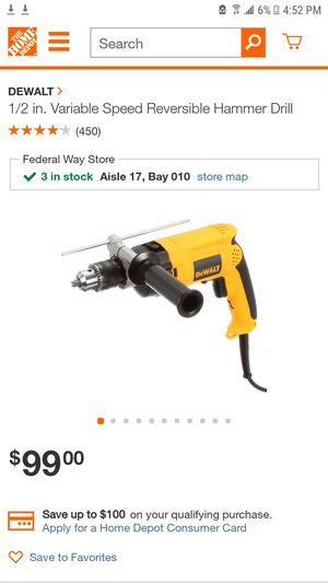Dewalt 1/2 variable hammer drill for Sale in Pacific, WA