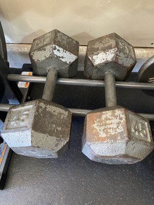 2-45lb dumbbells for Sale in LOS RNCHS ABQ, NM