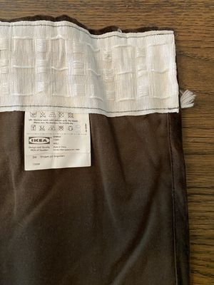IKEA Sanela brown velvet curtains (4 panels) for Sale in Franklin, TN