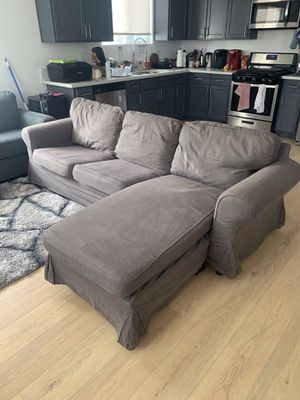 Comfy Gray Sectional Couch For Sale for Sale in Los Angeles, CA