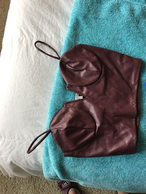 Maroon pleather midriff tank top - Charlotte Russe for Sale in Houston, TX